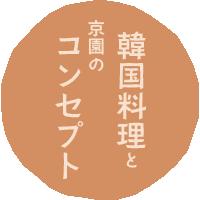 韓国料理と京園のコンセプト